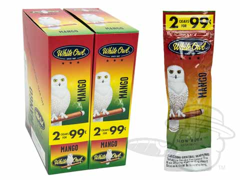 White Owl Cigarillos Mango 2 For 99 Pre-Priced Upright