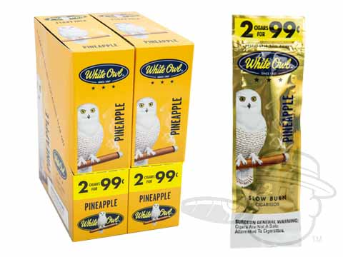 White Owl Cigarillos Pineapple 2 For 99 Pre-Priced Upright