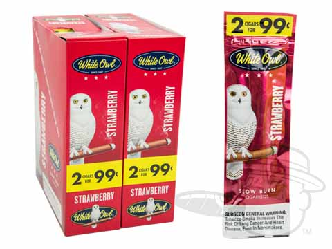 White Owl Cigarillos Strawberry 2 For 99 Pre-Priced Upright