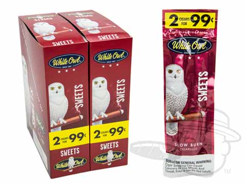 White Owl Cigarillos Sweets 2 For 99 Pre-Priced Upright