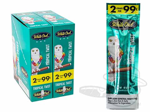 White Owl Cigarillos Tropical Twist 2 For 99 Pre-Priced Upright