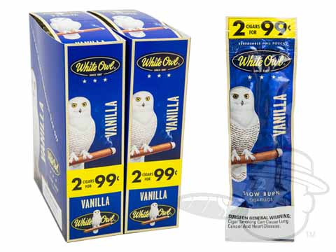 White Owl Cigarillos Vanilla 2 For 99 Pre-Priced Upright