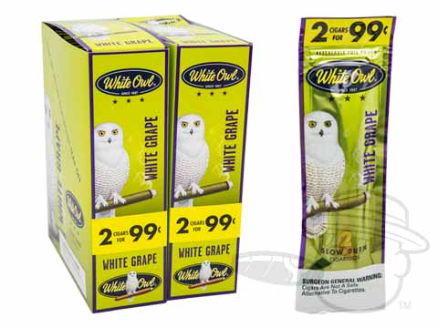White Owl Cigarillos White Grape 2 For 99 Pre-Priced Upright