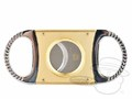 Wall Street Double Blade Cigar Cutter Silver & Copper thumbnail image 1