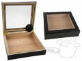 Black Glass Top 15 Count Humidor