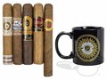 Perdomo Coffee Mug Gift Sampler Various Sized Cigars—5 Cigars with Accessory